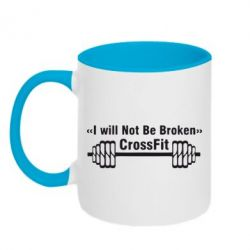 Кружка двухцветная I will Not Be Broken Crossfit - FatLine