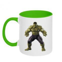 Кружка двухцветная Incredible Hulk - FatLine