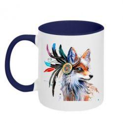 Кружка двоколірна 320ml Indian Fox