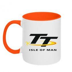 Кружка двухцветная Isle of man - FatLine