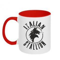 Кружка двухцветная Italian Stallion