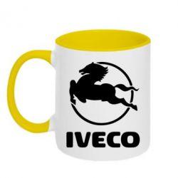 Кружка двухцветная IVECO - FatLine