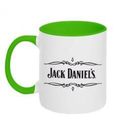 Кружка двухцветная Jack Daniel's Logo - FatLine