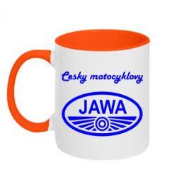 Кружка двухцветная Java Cesky Motocyclovy - FatLine