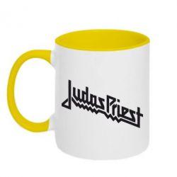 Кружка двухцветная Judas Priest Logo - FatLine