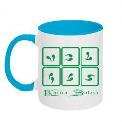 Кружка двухцветная Kama Sutra позы - FatLine