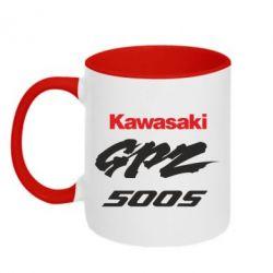 Кружка двухцветная Kawasaki GPZ500S - FatLine