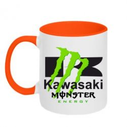 Кружка двухцветная Kawasaki Monster Energy - FatLine