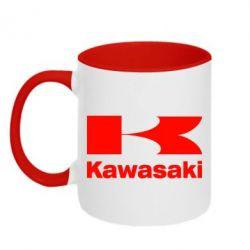 Кружка двухцветная Kawasaki - FatLine