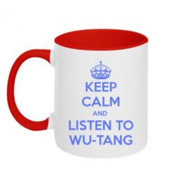 Кружка двухцветная KEEP CALM and LISTEN to WU-TANG - FatLine