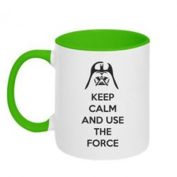 Кружка двухцветная Keep Calm and use the Force - FatLine