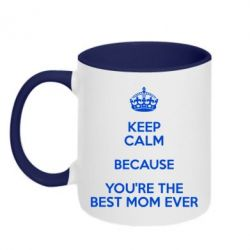 Кружка двухцветная 320ml KEEP CALM because you're the best mom ever