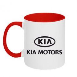 Кружка двухцветная Kia Logo - FatLine