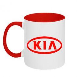 Кружка двухцветная KIA Small - FatLine