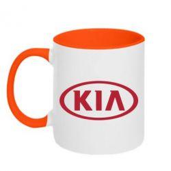 Кружка двухцветная KIA - FatLine