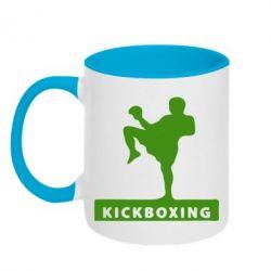Кружка двухцветная Kickboxing Fighter - FatLine