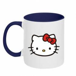 Кружка двухцветная Kitty - FatLine