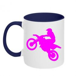 Кружка двухцветная Кроссовый мотоцикл - FatLine
