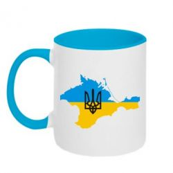 Кружка двоколірна 320ml Крим це Україна