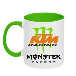 Кружка двоколірна 320ml KTM Monster Enegry