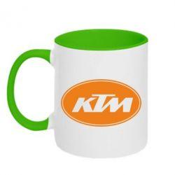 Кружка двухцветная KTM - FatLine