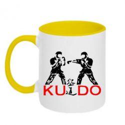 Кружка двухцветная Kudo Fight - FatLine