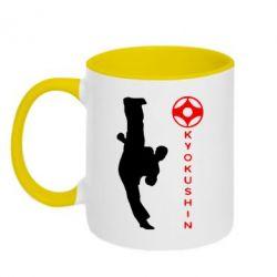 Кружка двухцветная Kyokushin Kick - FatLine