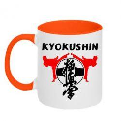 Кружка двухцветная Kyokushin - FatLine