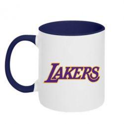 Кружка двухцветная LA Lakers - FatLine