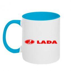 Кружка двухцветная Lada - FatLine