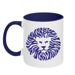 Кружка двухцветная лев - FatLine