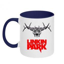 Кружка двухцветная Linkin Park Logo - FatLine