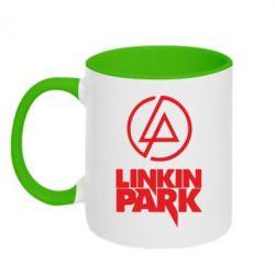Кружка двокольорова Linkin Park - FatLine