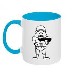 Кружка двухцветная Little Stormtrooper - FatLine