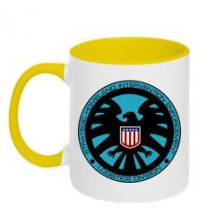 Кружка двухцветная Логотип Щита - FatLine