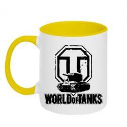 Кружка двухцветная Логотип World Of Tanks - FatLine