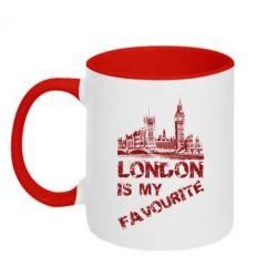Кружка двухцветная Лондон моноцвет