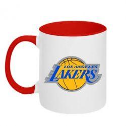 Кружка двоколірна 320ml Los Angeles Lakers