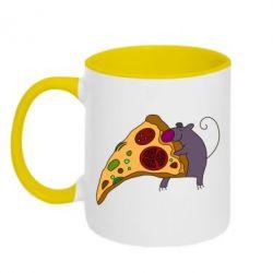 Кружка двухцветная Love Pizza 2 - FatLine