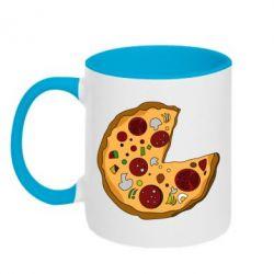 Кружка двухцветная Love Pizza