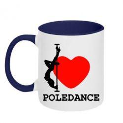 Кружка двухцветная Love Pole Dance - FatLine