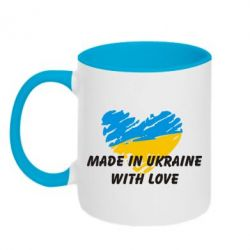Кружка двухцветная Made in Ukraine with Love