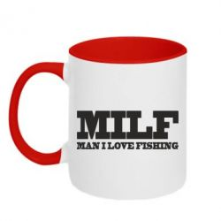 Кружка двоколірна 320ml Man I Love Fishing