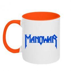 Кружка двухцветная 320ml Manowar