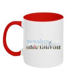 Кружка двухцветная Маріуполь - FatLine