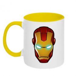 Кружка двухцветная Маскаа Железного Человека - FatLine