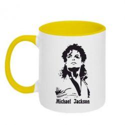 Кружка двоколірна 320ml Майкл Джексон