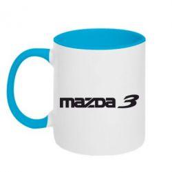Кружка двухцветная Mazda 3 - FatLine