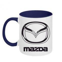 Кружка двухцветная Mazda Logo - FatLine