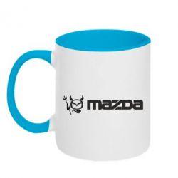 Кружка двухцветная Mazda - FatLine